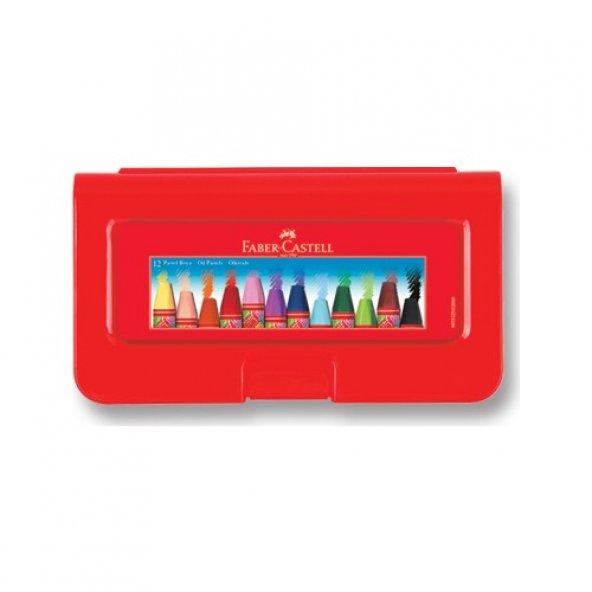 Faber-Castell Altıgen Pastel Plastik Kutu12'li