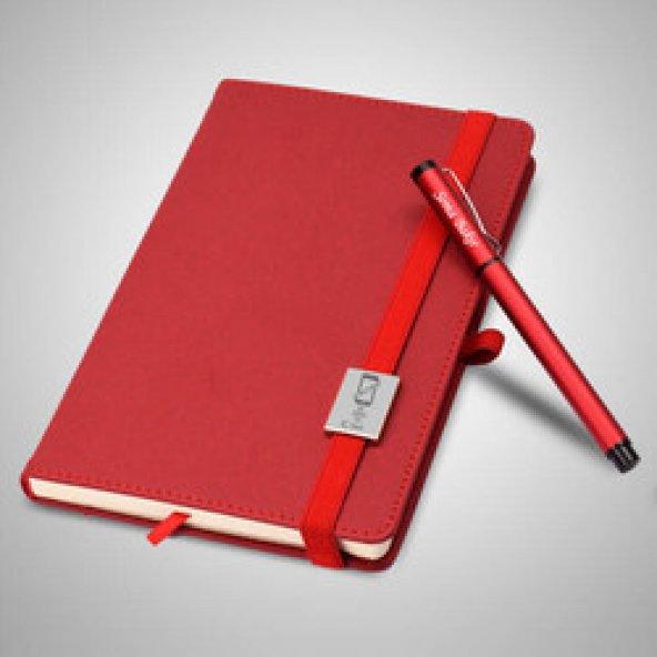 Kırmızı Defter ve Kalem Seti - Bağımsız Ol