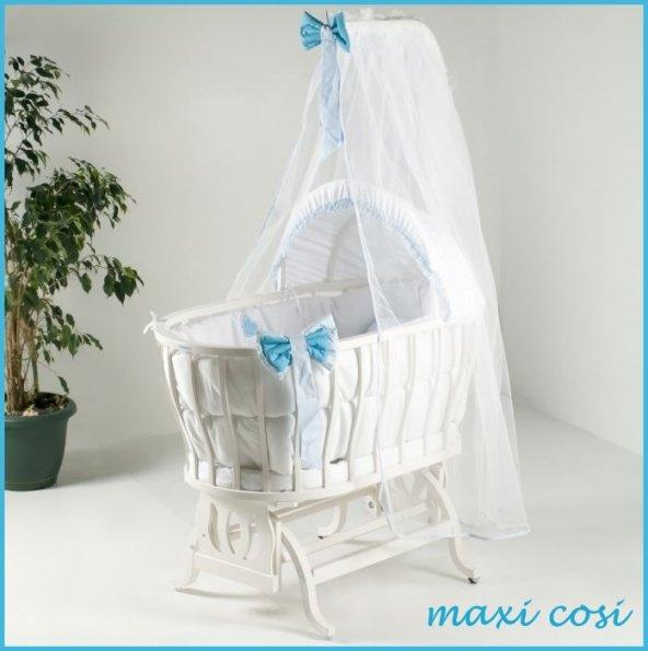 Maxi-Cosi Anne Yanı Sepet Beşik Lake Beyaz Natural Beşik Full Set