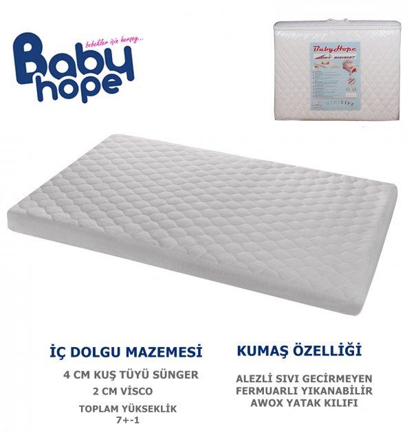 76X120 BABYHOPE ALEZLİ VİSCO OYUN PARKI YATAĞI
