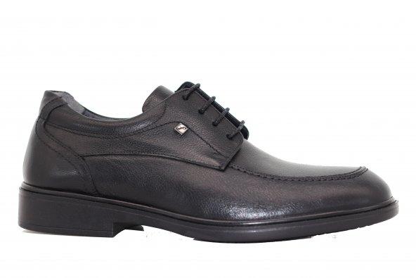 FOSCO Siyah Erkek Hakiki Deri Ortopedik Ayakkabı 9583