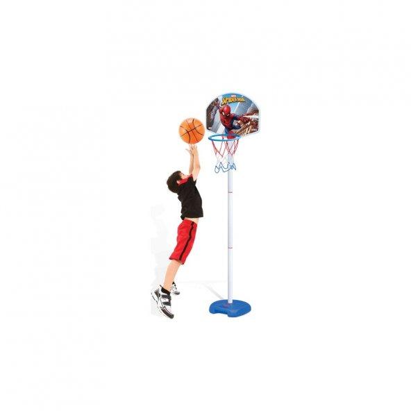 Dede Spiderman Ayaklı Basketbol Set