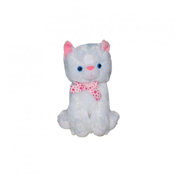 Oyuncak Peluş Kurdelalı Kedi 3 Asorti 30 Cm