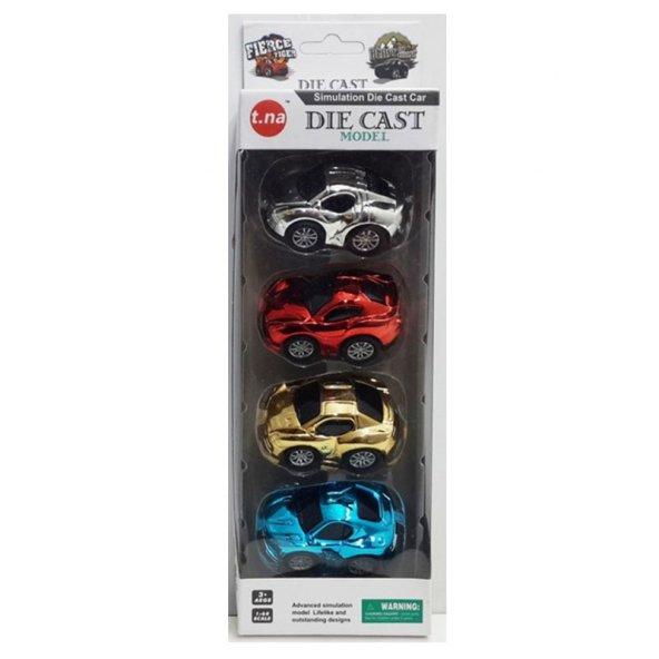Samatlı Oyuncak Model Arabalar 4 lü Seti