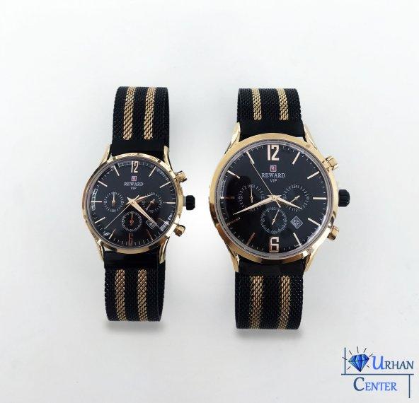 Reward Çift Saati Hasır Kolçak Sevgili Saati
