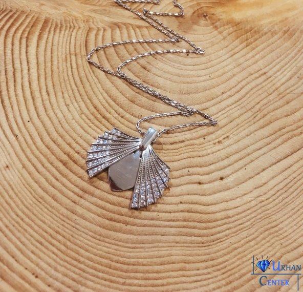 Gümüş Deniz Kabuğu Bayan Hediyelik Kolye