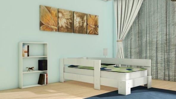NEVRAMO Anemon Montessori  Karyola -Beyaz- 90x190 Yatağa Uyumlu