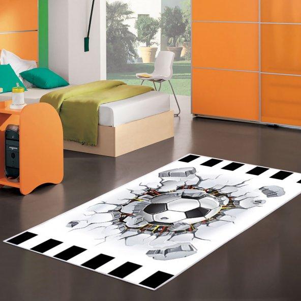 Ahsen Halı PVC Deri Kaydırmaz Taban Beşik-Taş Desenli Çocuk Halısı  100x160
