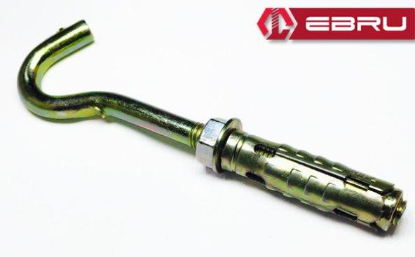 Ebru Gömlekli Kancalı Çelik Dübel M8  (50 Adet)