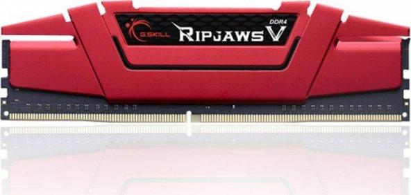 GSKILL RipjawsV 8GB DDR4 3000Mhz CL16 Tek Modül 1.35V Kırmızı (F4-3000C16S-8GVRB)