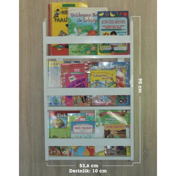 Emdief Home - Montessori Kitaplık 3'lü Çocuk Odası Kitaplığı - MDF