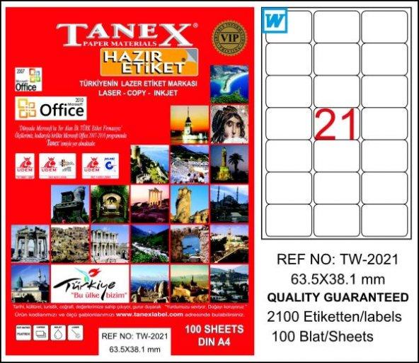 TANEX LAZER ETİKET 063-038 TW-2021