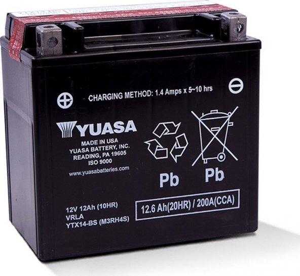 Yuasa YTX14-BS 12v 12Ah Motosiklet Aküsü