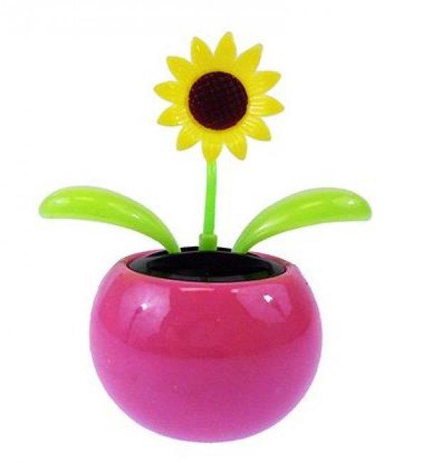 Flower Güneş Enerjili Dans Eden Çiçek Mor