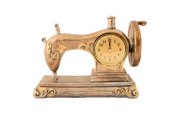 Pologift Polyester Dekoratif Dikiş Makinesi Şeklinde Masa Saati