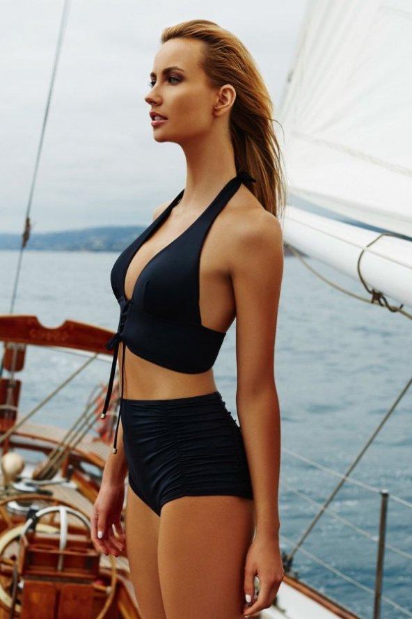 Ewa Angel Siyah Şık Bikini Üst