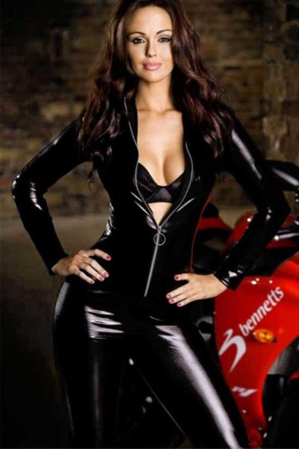 Ewa Deri Motorcu Kız kostümü
