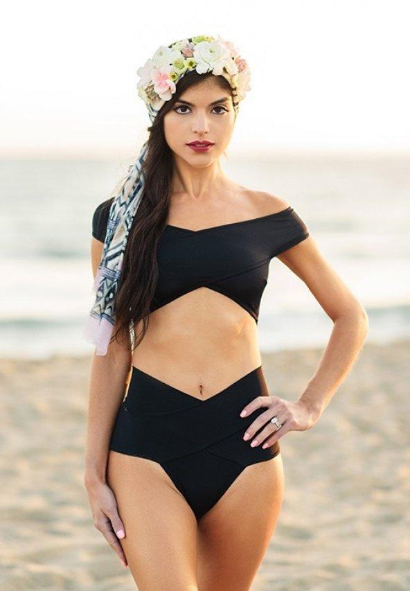 Ewa Angel Siyah Özel Tasarım Bikini Alt