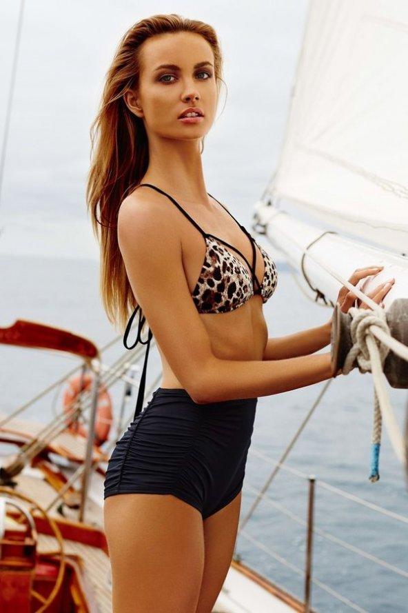 Ewa Angel Leopar Desenli Bikini Üst