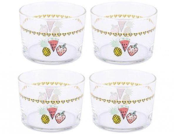 Depa HARE Fruits Desenli 4lü Cam Reçellik