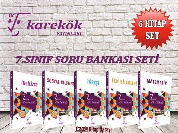 7.Sınıf Soru Bankası Seti 5 Kitap Karekök Yayınları