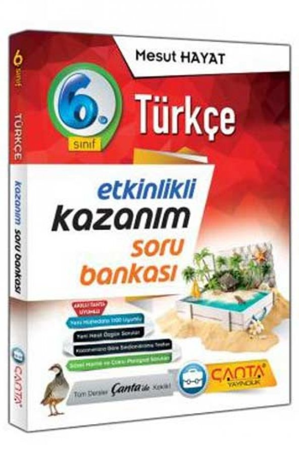 Çanta Yayınları 6.Sınıf Türkçe Etkinlikli Kazanım Soru Bankası