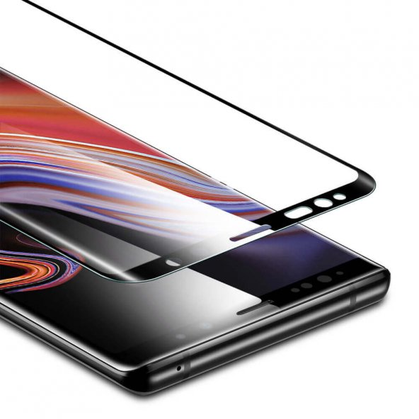 Samsung Note 9 Cam Ekran Koruyucu, ESR 3D Full Coverage Tempered Glass