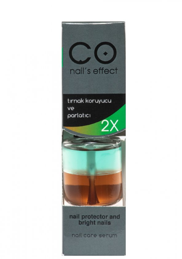 CO NAİL'S EFFECT Tırnak Koruyucu ve Parlatıcı Çift Renk 12 ml