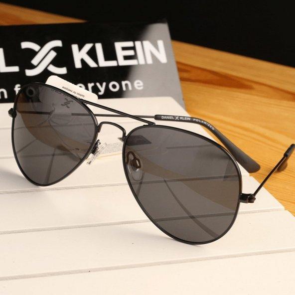 Daniel Klein DK3053-6 Siyah Damla Polarize Erkek Güneş Gözlüğü