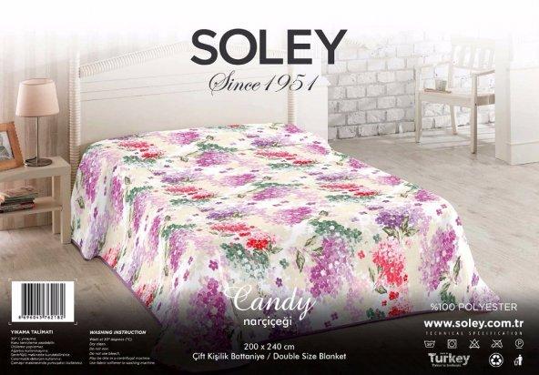 Soley Çift Kişilik Vizyon Battaniye - Candy Narçiçeği
