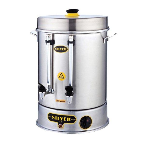 160 Bardaklık Çay Makinesi 15 lt Metal Basmalı Musluk