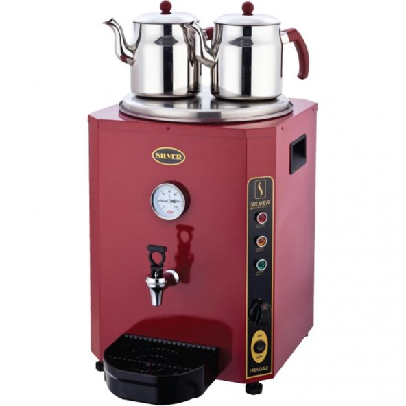 Elektrikli Çay Kazanı Kırmızı Jumbo Çift Demlikli 23 Lt