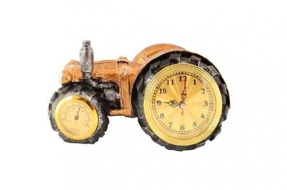 Pologift Polyester Masa Üstü Traktör Şeklinde Saat