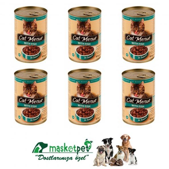 Cat Menue Balıklı    Kedi Konserve 405 gr 6 Adet