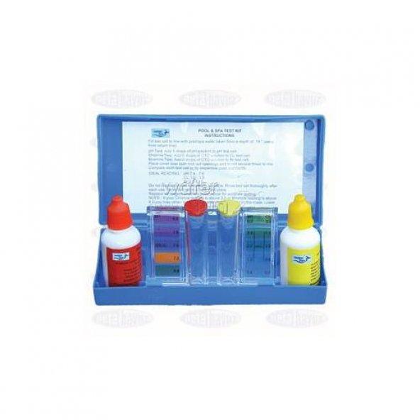 Waterfun Ph Cl Havuz Kimyasal Ölçüm Test Kiti Sıvılı Komple