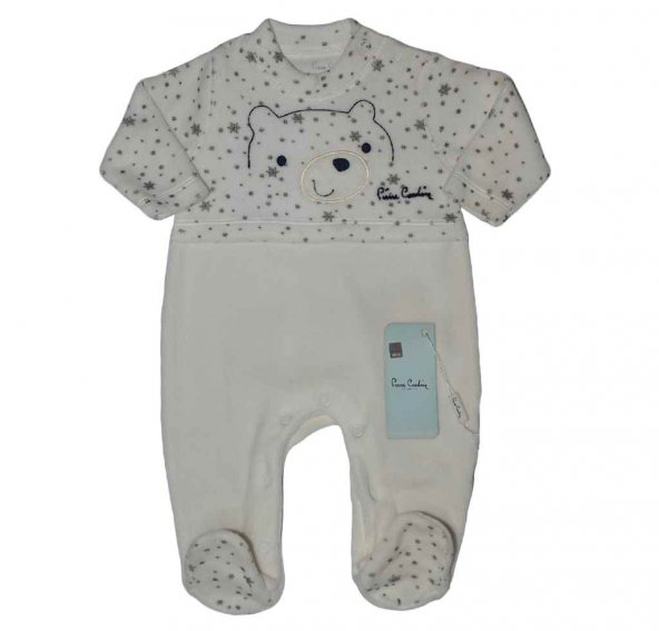 Pierre Cardin 160229 Erkek Bebek Tulum Kadife Gri