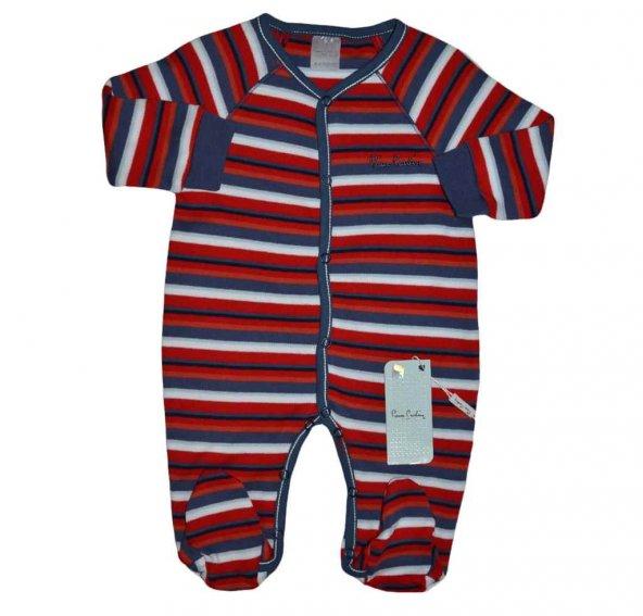 Pierre Cardin 160457  Tulum Kırmızı Mavi Çizgili