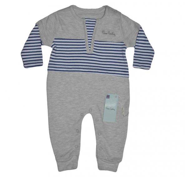 Pierre Cardin 160489 Erkek Bebek Tulum Gri Melanj-Laci