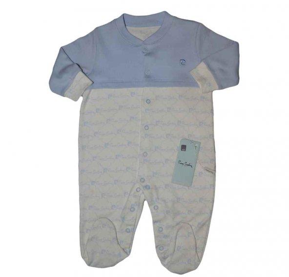 Pierre Cardin 300307 Erkek Bebek Tulum Mavi Küçük Yazı
