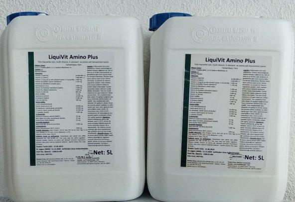 LiquiVit Amino Plus-Vitamin-Aminoasit-İz element Konsantresi-1Litre