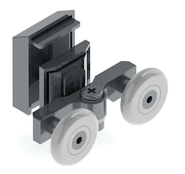 Anpa112-K Duşakabin Slot Ayarlı Kapaklı Rulmanı Tekerlek Tekeri Makarası