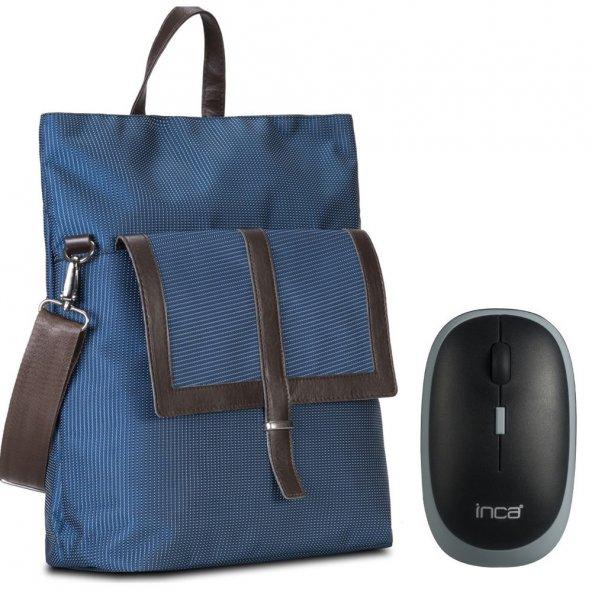 Classone BP-W101 Bayan Notebook Sırt Çantası + Kablosuz Mouse