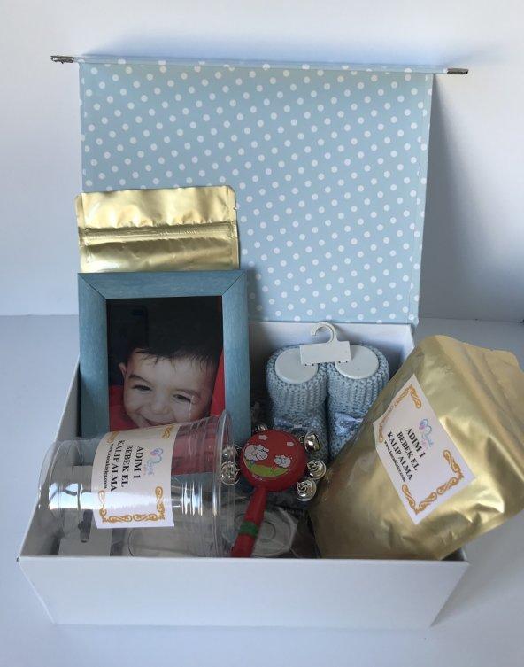 Erkek bebek doğum hediye kutusu