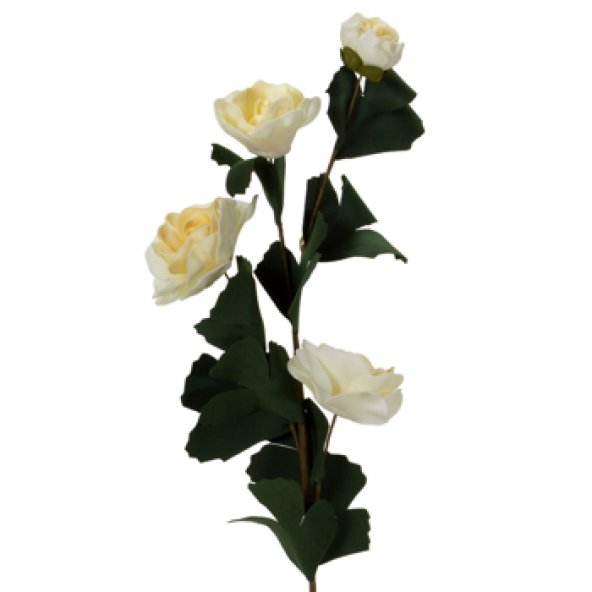 Krem Lateks Gül Yapay Çiçek 62 cm