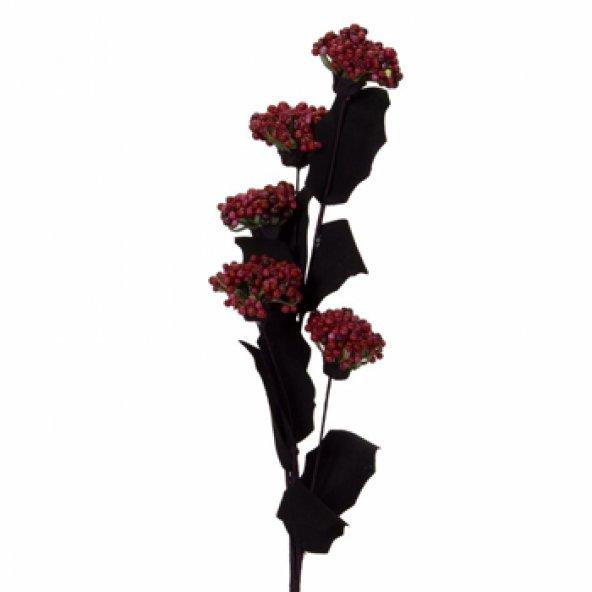 Kırmızı Lateks Kartopu Yapay Çiçek 53 cm