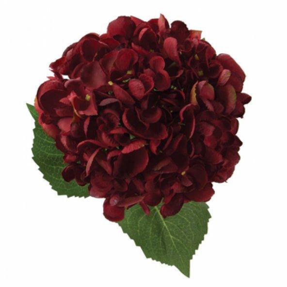 Bordo Ortanca Yapay Çiçek 52 cm