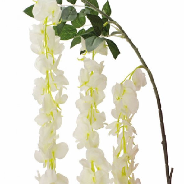 Beyaz Wisteria Yapay Çiçek 200 cm