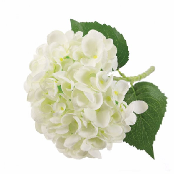 Beyaz Ortanca Yapay Çiçek 52 cm