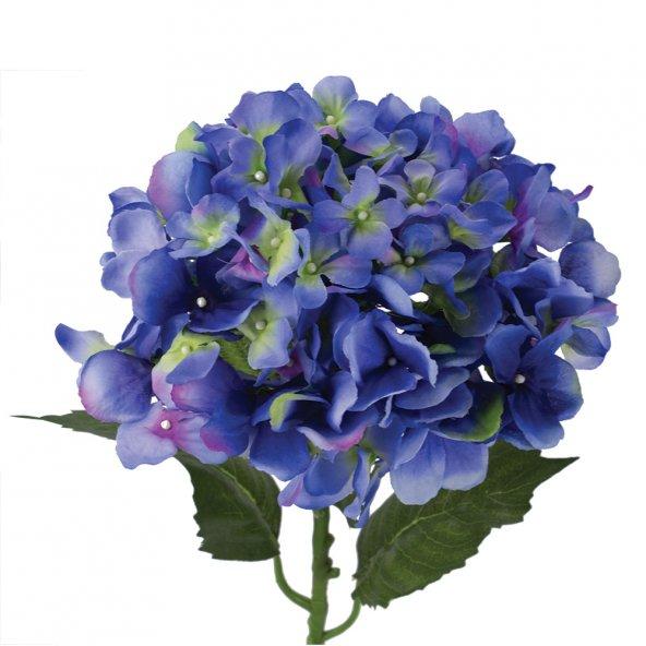 Tmall Home Design Mavi Ortanca Yapay Çiçek 85 cm