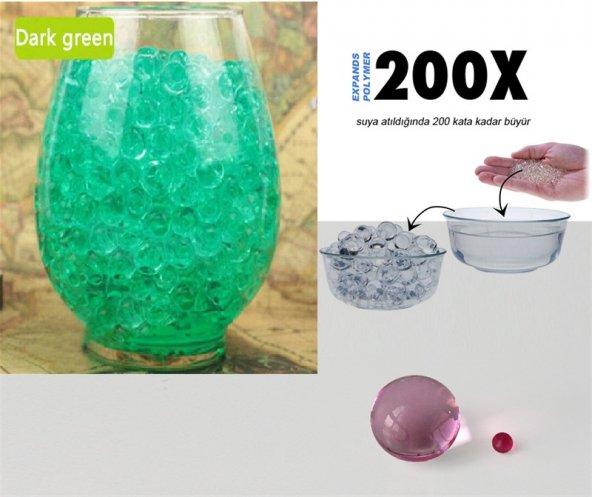 Suda Büyüyen Vazo ve Akvaryum Taşları - Yeşil